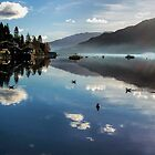 Reflections of Lochgoilhead Scotland by Lynn Bolt