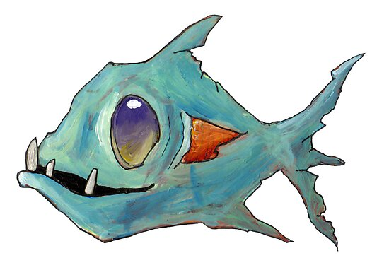 Blue Zombie Fish by Cantus