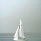 Ghostly Halloween Sail by Eileen McVey