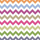 Multicolor Chevron Rainbow Zig-Zag Pattern by PhuniPhone