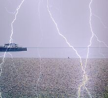 LIGHTENING BEACH by Terry Collett