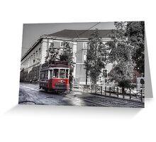 Lisbon Tram Greeting Card