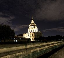 Les Invalides - Eglise Du Dome At Night - 1 © by © Hany G. Jadaa © Prince John Photography