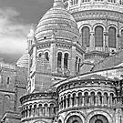 Sacre Coeur Montmartre Paris France - B&W by Buckwhite