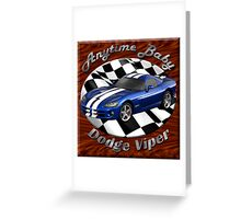 Dodge Viper Anytime Baby Greeting Card