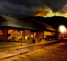 Yreka train station. by pdsfotoart