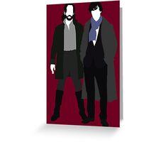 Ichabod Crane and Sherlock Holmes (BBC Version) Greeting Card