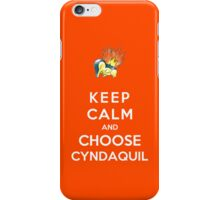 Keep Calm And Choose Cyndaquil iPhone Case/Skin