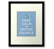 Keep Calm And Choose Squirtle Framed Print