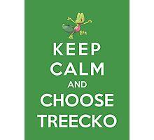 Keep Calm And Choose Treecko Photographic Print