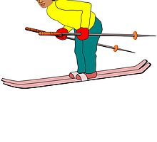 Cartoon Skier by kwg2200