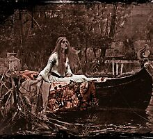 Lady of Shalott Adrift by dianegaddis