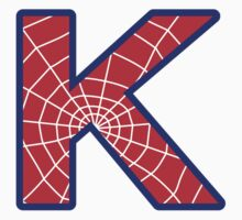 K letter in Spider-Man style by Stock Image Folio