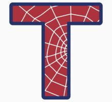 T letter in Spider-Man style by florintenica