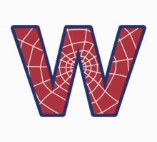 W letter in Spider-Man style by florintenica