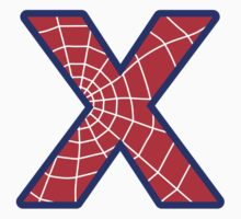 X letter in Spider-Man style by Stock Image Folio