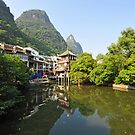Beautiful Little Town Of Yangshuo, China.  by Ralph de Zilva