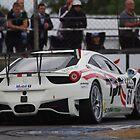 British GT 2013 Donington - #61 Paul Bailey / Andy Schultz - White Ferrari 458 Italia GT3 by motapics