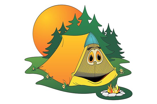 Quot Cartoon Camping Tent Quot By Graphxpro Redbubble