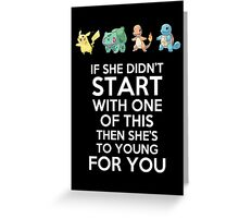 If she didn't start with one of this Greeting Card