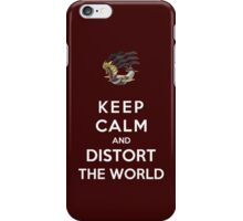 Keep Calm And Distort The World iPhone Case/Skin