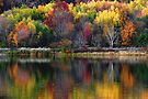 Autumn Sprinkle at Rose Valley Lake by Gene Walls