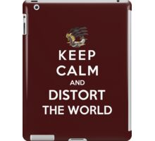 Keep Calm And Distort The World iPad Case/Skin