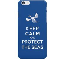 Keep Calm And Protect The Seas iPhone Case/Skin