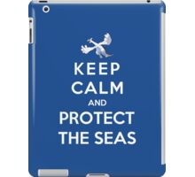 Keep Calm And Protect The Seas iPad Case/Skin