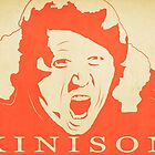 Sam Kinison Vintage Poster - Red by FinlayMcNevin