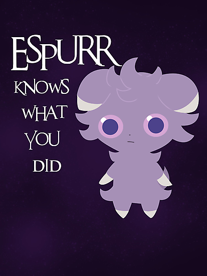 Espurr knows what you did by nimbusnought