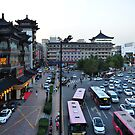 Taken From The Xi'an City Wall, China. by Ralph de Zilva