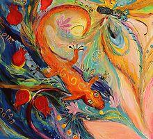 Original painting fragment 68 by Elena Kotliarker