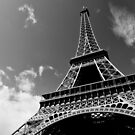 Sunshine on iron - Eiffel Tower - Paris, France by Norman Repacholi