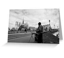 Artist at work - Notre Dame - Paris, France Greeting Card