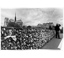 Locking for Love - Paris, France Poster