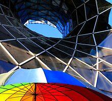 Futuristic Building in Frankfurt by Angelika  Vogel