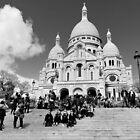 The steps of Sacre Cour -  Paris, France by Norman Repacholi