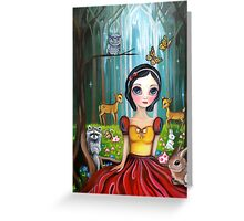 Snow White in the Enchanted Forest Greeting Card