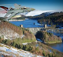 Winter At The Howden Dam - Tornado GR4 by Colin J Williams Photography