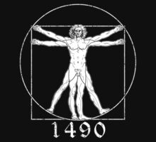 The Vitruvian Man - Leonardo da Vinci - Italian Renaissance by James Ferguson - Darkinc1