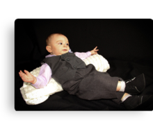 Ollie in his Tux Canvas Print