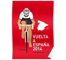 My Vuelta a Espana Minimal poster Poster