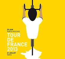 My Tour de France Minimal poster 2013 by Chungkong