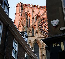 York Minster Peak-a-boo by movemountains