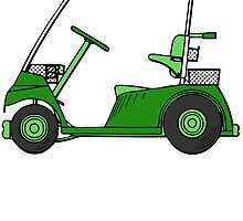 Green Golf Cart by kwg2200