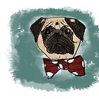 Bob the Pug by flockadoodle