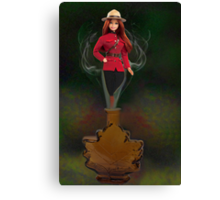 █ ♥ █ GENIE ~MAPLE LEAF ~ROYAL CANADIAN MOUNTED POLICE PICTURE/CARD █ ♥ █  Canvas Print