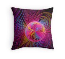 Raspberry Embrace Throw Pillow