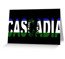 Cascadia, Flag in Letters Greeting Card
